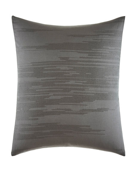 Vera Wang Burnished Quartz Gray Decorative Pillow, 18""