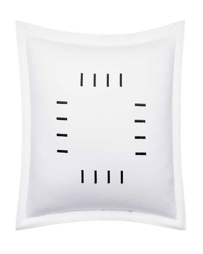 Zigzag White Decorative Pillow  18