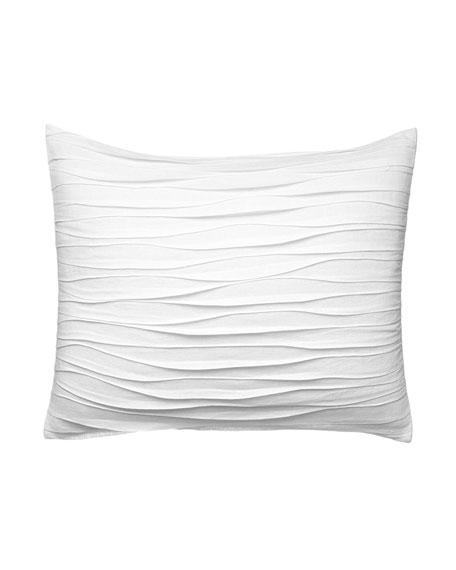 "Vera Wang Marble Shibori Waves Decorative Pillow, 15"" x 22"""