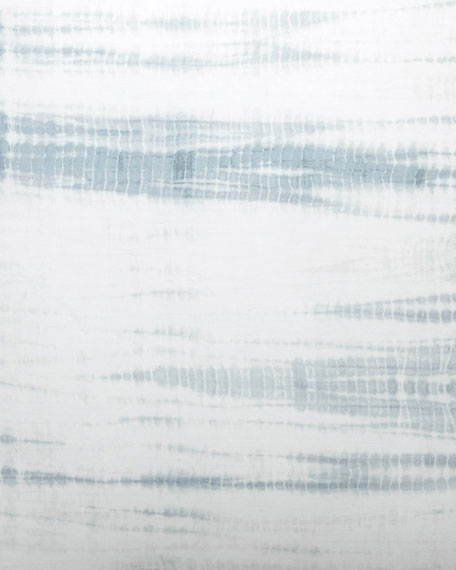 Vera Wang Marble Shibori Blue Standard Sham