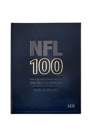"Graphic Image ""NFL 100: The Greatest Moments of the NFL's Century"" Leather Book, Personalized"