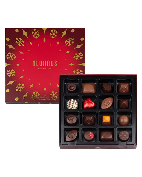 Neuhaus Chocolate 16-Piece Holiday Travel Gift Box
