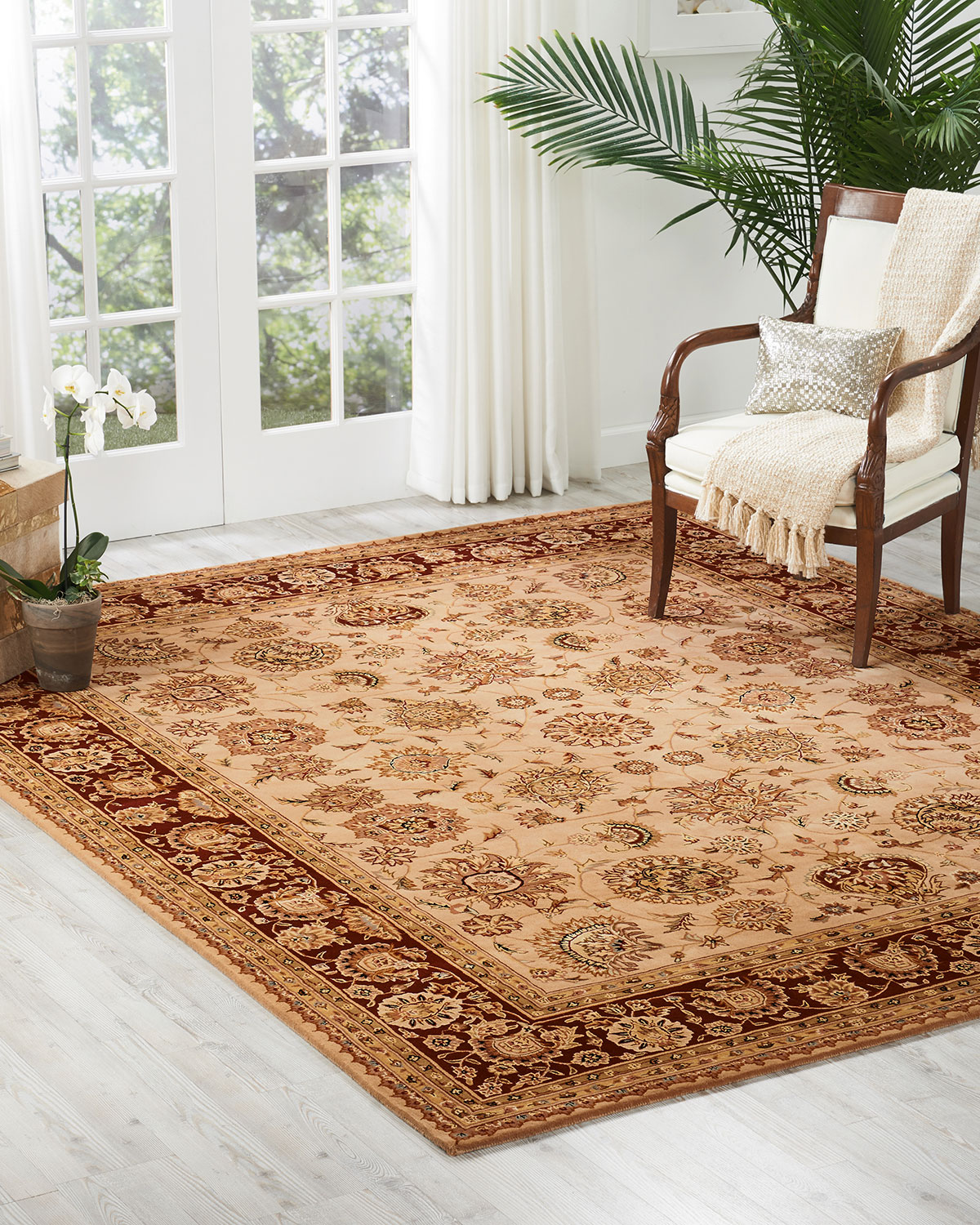 NourCouture Colonial Hand-Tufted Rug, 4' x 6'