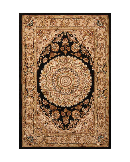 "Image 2 of 4: NourCouture Medallion Hand-Tufted Runner, 2'6"" x 12'"