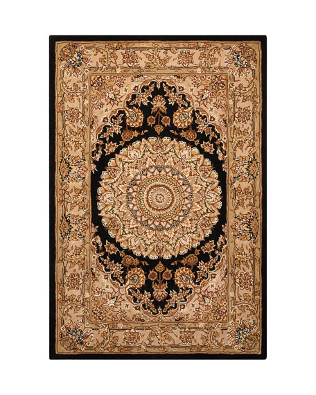Image 2 of 4: NourCouture Medallion Hand-Tufted Rug, 5' x 8'