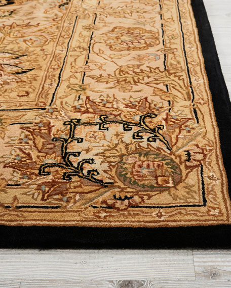 Image 3 of 4: NourCouture Medallion Hand-Tufted Rug, 5' x 8'