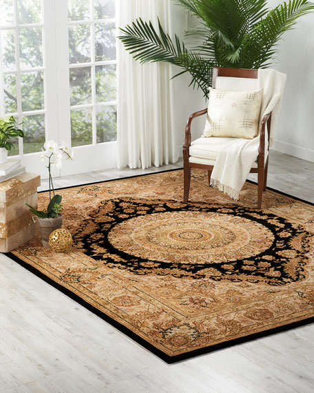 Image 1 of 4: NourCouture Medallion Hand-Tufted Rug, 5' x 8'