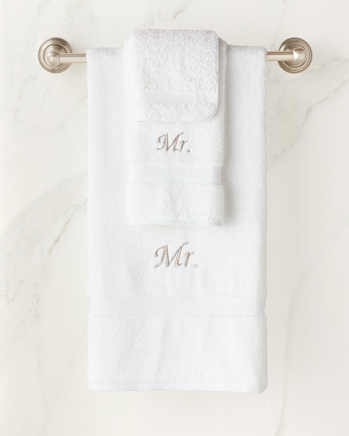 "The Pillow Bar ""Mr. and Mr."" Six-Piece Cotton Towel Set"