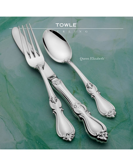 Image 2 of 2: Towle Silversmiths Queen Elizabeth 46-Piece Dinner Flatware Set