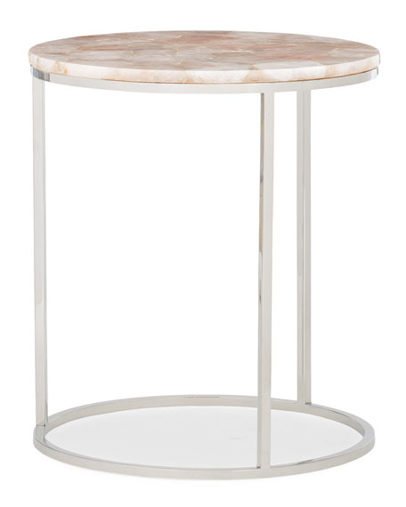 caracole Rosie Quartz Accent Table