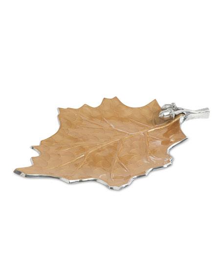 """Julia Knight Oak Leaf 18"""" Platter"""