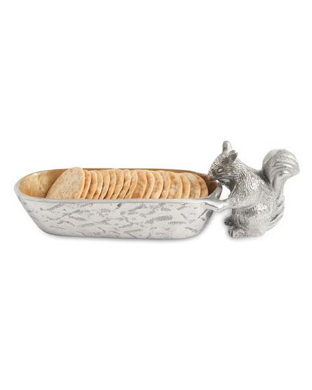 "Julia Knight Squirrel Cracker 9.75"" Tray"