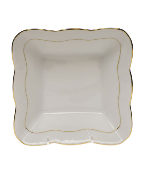 Herend Golden Edge Square Dish