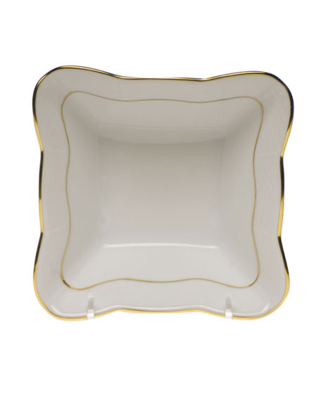 Herend Golden Edge Small Square Dish