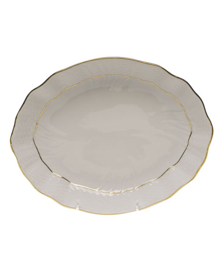 Herend Golden Edge Oval Dish