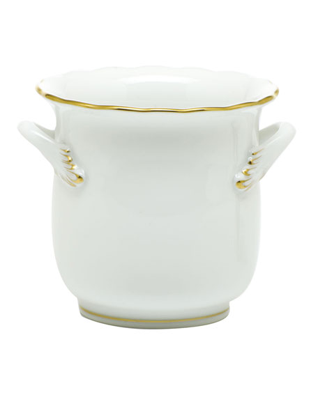 Herend Golden Edge Mini Cache Pot with Handles