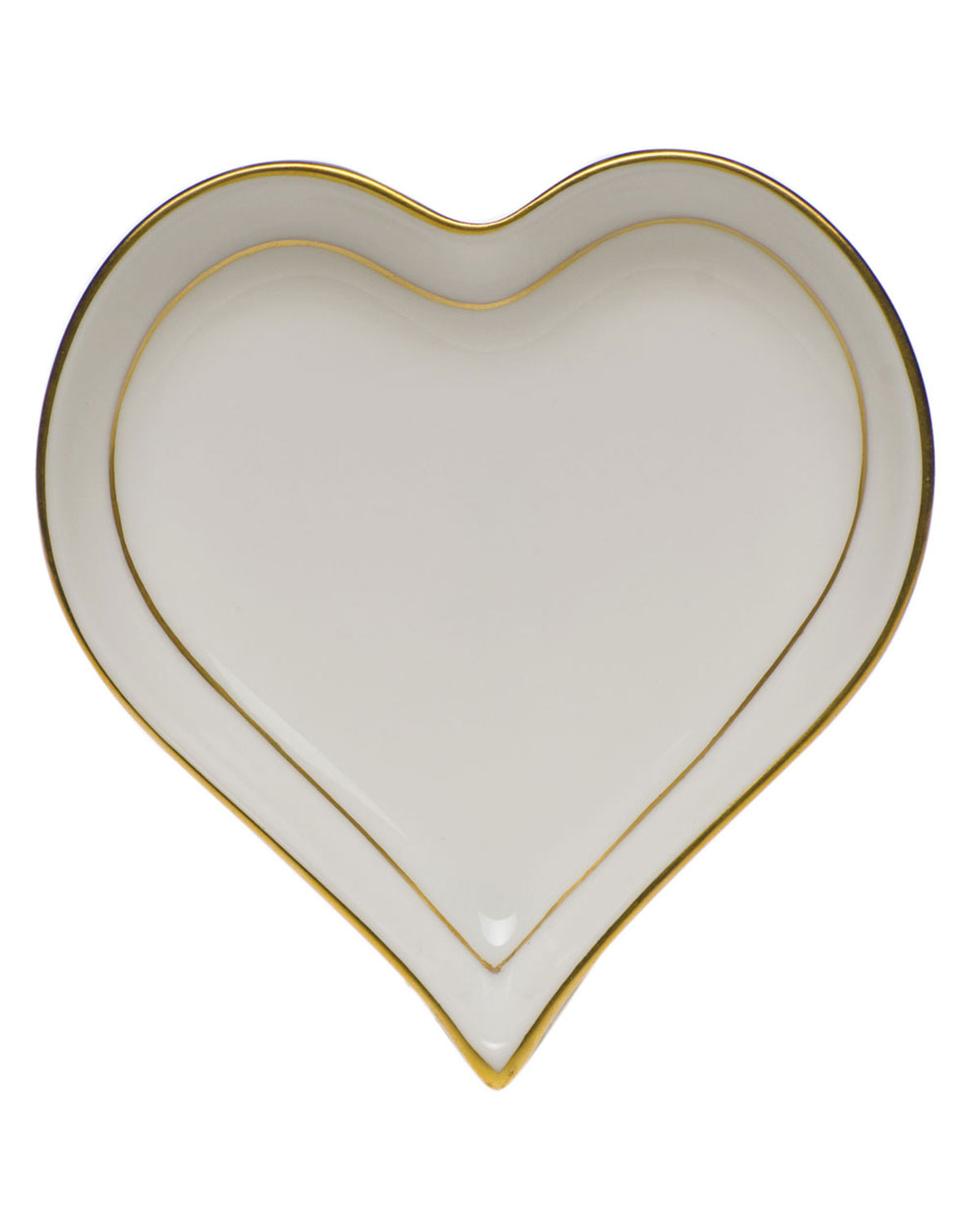 Herend Golden Edge Small Heart Tray