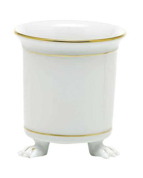 Herend Golden Edge Mini Cache Pot with Feet
