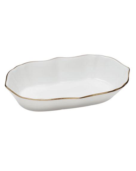 Herend Golden Edge Narrow Pin Dish