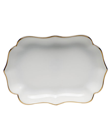 Herend Golden Edge Mini Scalloped Tray