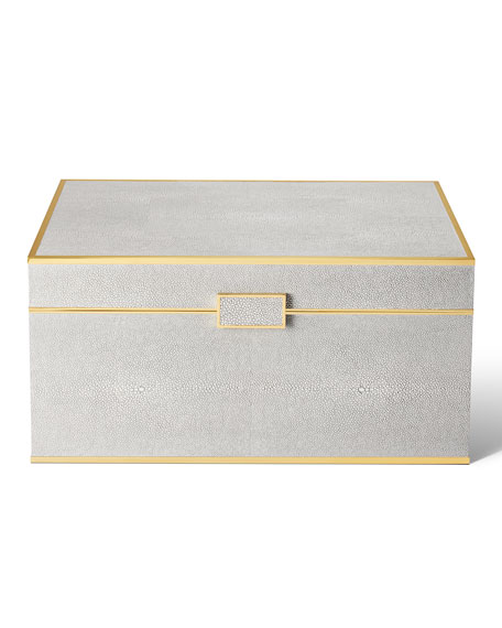 Image 2 of 4: AERIN Luxe Shagreen Jewelry Box