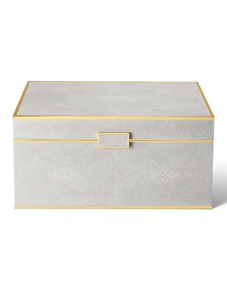 Image 1 of 4: AERIN Luxe Shagreen Jewelry Box