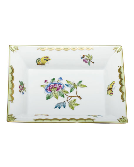 Herend Queen Victoria Green Jewelry Tray