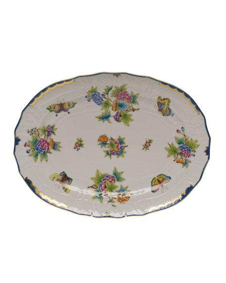 Herend Queen Victoria Blue Platter