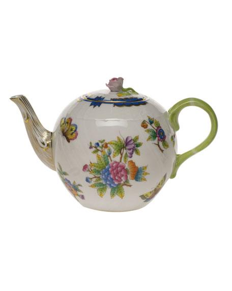 Herend Queen Victoria Blue Teapot