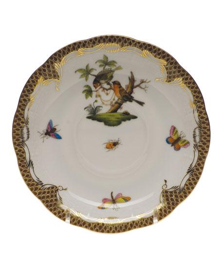 Herend Rothschild Bird Brown Motif 10 Tea Saucer