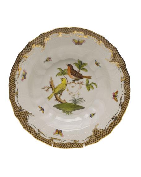 Herend Rothschild Bird Brown Motif 06 Rim Soup Bowl