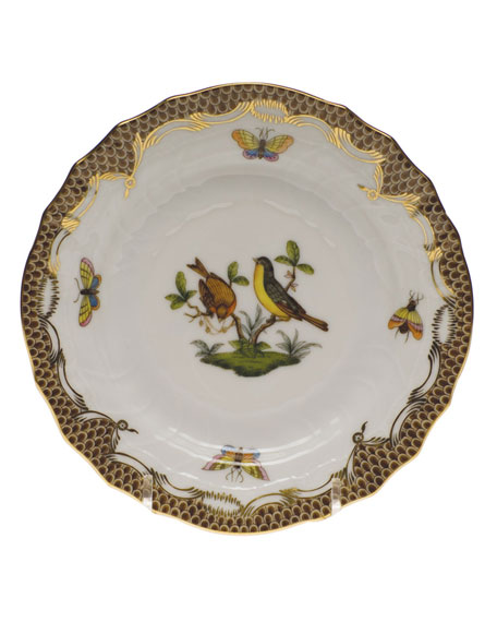 Herend Rothschild Bird Brown Motif 07 Bread & Butter Plate