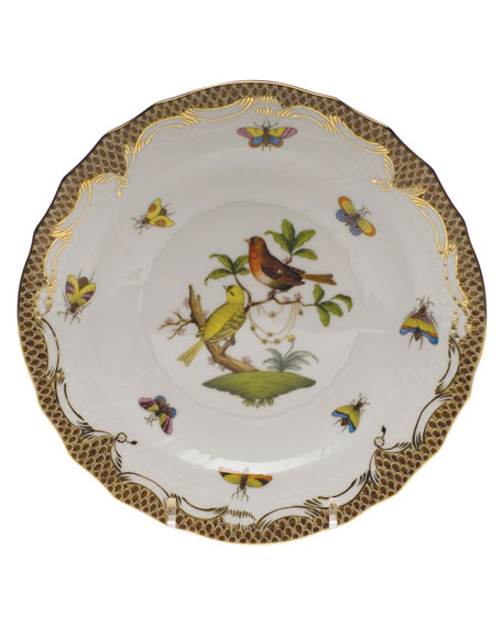 Herend Rothschild Bird Brown Motif 06 Salad Plate