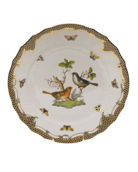 Herend Rothschild Bird Brown Motif 05 Dinner Plate