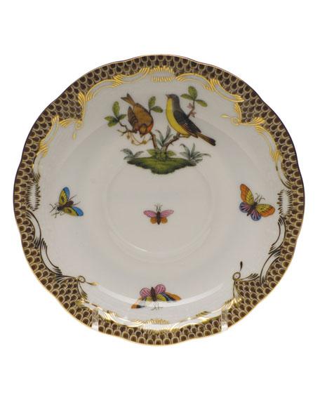 Herend Rothschild Bird Brown Motif 07 Tea Saucer