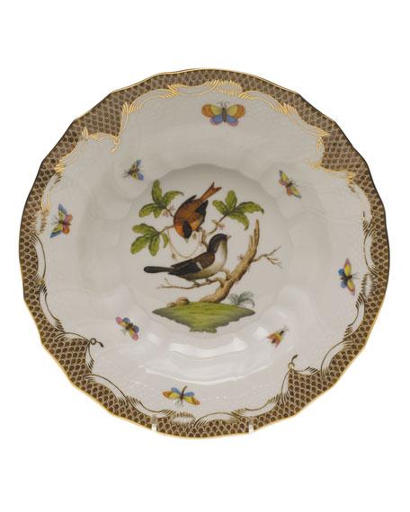 Herend Rothschild Bird Brown Motif 04 Rim Soup Bowl