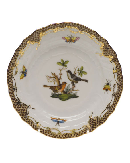 Herend Rothschild Bird Brown Motif 05 Bread & Butter Plate