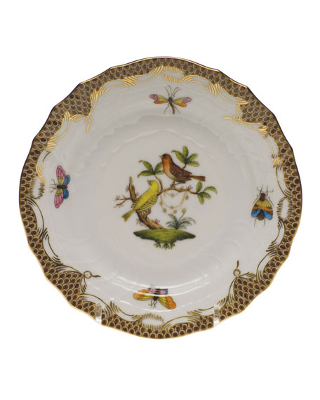 Herend Rothschild Bird Brown Motif 06 Bread & Butter Plate