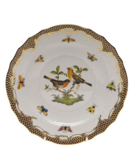 Herend Rothschild Bird Brown Motif 09 Salad Plate