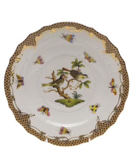 Herend Rothschild Bird Brown Motif 11 Salad Plate