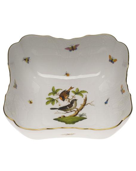 Herend Rothschild Bird Square Salad Bowl