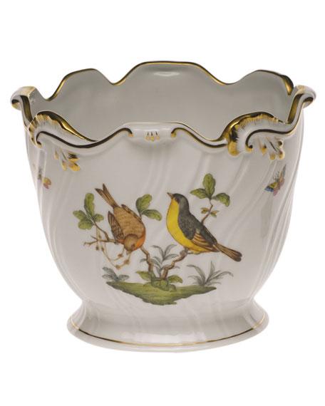 Herend Rothschild Bird Ribbed Cache Pot