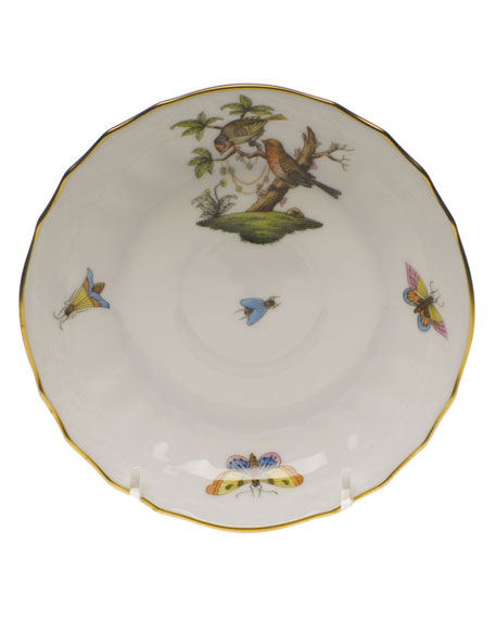 Herend Rothschild Bird Motif 10 Canton Saucer