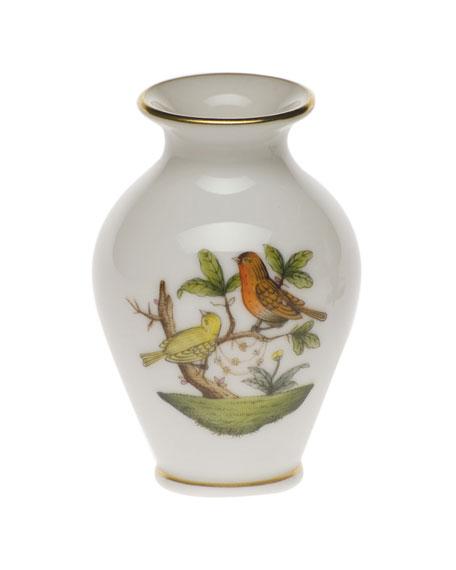 Herend Rothschild Bird Small Bud Vase with Lip