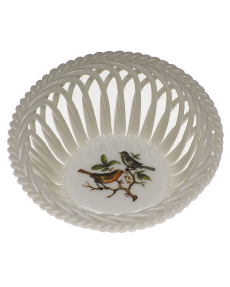 Herend Rothschild Bird Small Openwork Basket