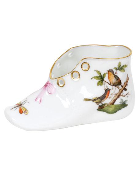 Herend Rothschild Bird Porcelain Baby Shoe Keepsake