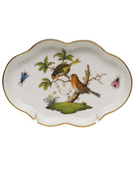 Herend Rothschild Bird Small Scalloped Tray