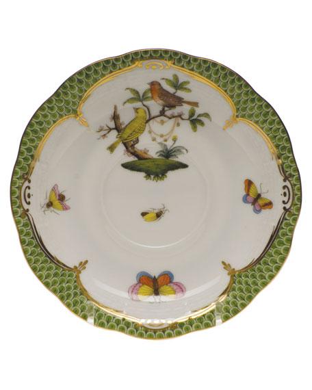 Herend Rothschild Bird Green Motif 06 Tea Saucer