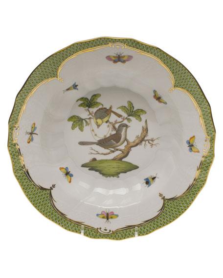 Herend Rothschild Bird Green Motif 01 Rim Soup Bowl