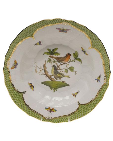 Herend Rothschild Bird Green Motif 03 Rim Soup Bowl